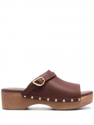 Клоги с ремешком на пятке Ancient Greek Sandals. Цвет: коричневый