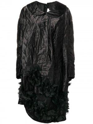 Quilted asymmetric hem dress Comme Des Garçons. Цвет: черный