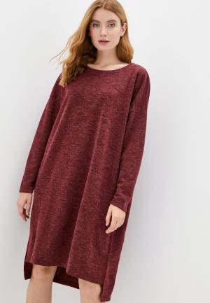 Платье Vero Moda Curve. Цвет: бордовый