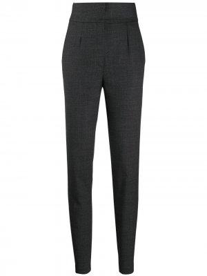 Зауженные брюки с завышенной талией Dolce & Gabbana. Цвет: серый