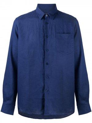 Рубашка с длинными рукавами Vilebrequin. Цвет: синий