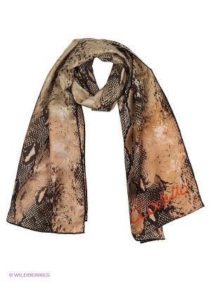 Платок CODELLO. Цвет: темно-коричневый, красный