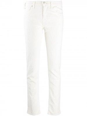 Вельветовые брюки скинни Kimberly Jacob Cohen. Цвет: белый