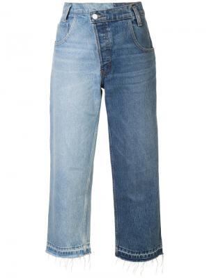 Широкие джинсы дизайна пэчворк Monse. Цвет: синий