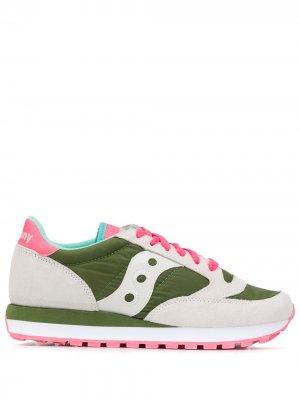 Кроссовки в стиле колор-блок Saucony. Цвет: зеленый