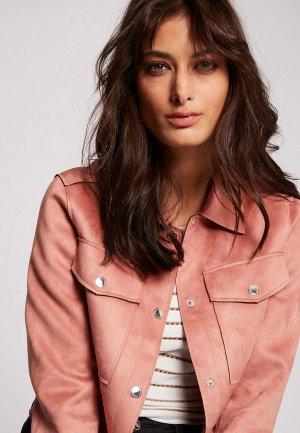 Куртка кожаная Morgan. Цвет: розовый