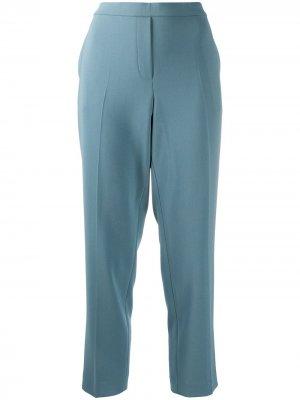 Укороченные брюки строгого кроя Theory. Цвет: синий