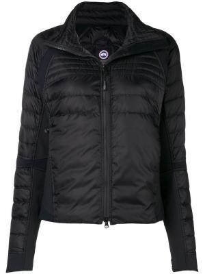 Hooded fitted jacket Canada Goose. Цвет: черный