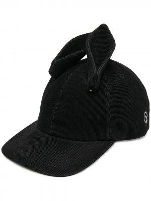 Вельветовая кепка с ушками Undercover. Цвет: черный