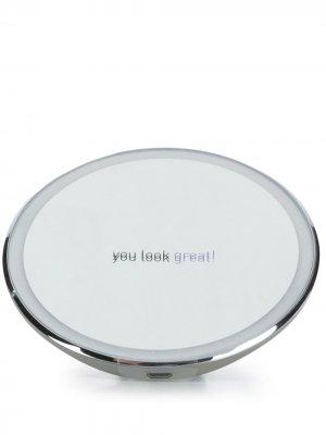 Круглое зеркало 4 с сенсорной подсветкой Simplehuman. Цвет: серебристый