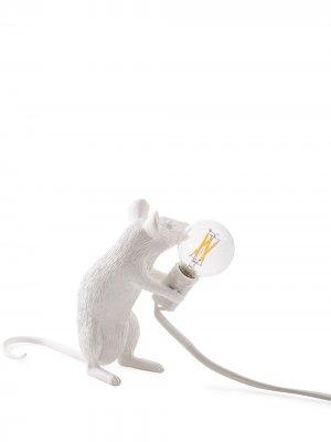 Лампа Sitting Mouse Seletti. Цвет: белый