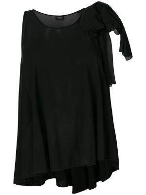Блузка с завязкой на плече Giambattista Valli. Цвет: черный