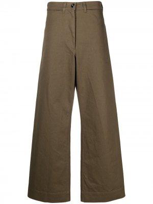 Широкие брюки с завышенной талией Margaret Howell. Цвет: зеленый