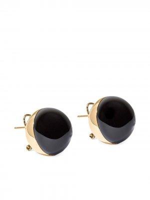 Серьги-гвоздики в двух тонах Carolina Herrera. Цвет: черный