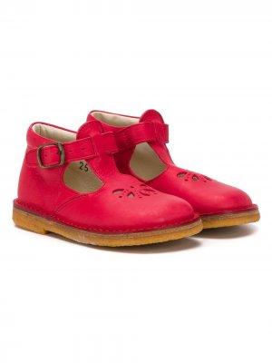 Туфли с ремешком на пряжке Pèpè. Цвет: красный