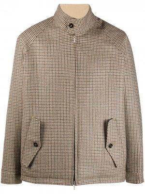 Двусторонняя куртка в клетку Mackintosh. Цвет: коричневый