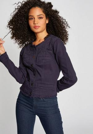 Куртка джинсовая Morgan. Цвет: фиолетовый