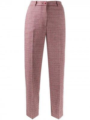 Укороченные брюки в клетку Blumarine. Цвет: красный