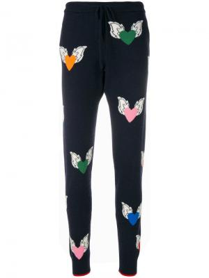 Спортивные брюки с узором в виде сердец Juliet Chinti & Parker. Цвет: синий