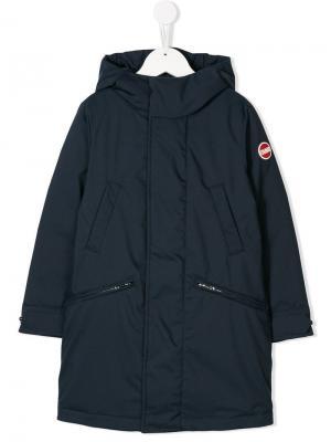 Long hooded coat Colmar Kids. Цвет: синий