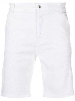 Джинсовые шорты Dondup. Цвет: белый