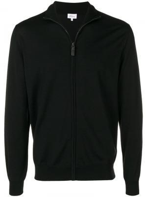 Zip-up knitted sweater Brioni. Цвет: черный