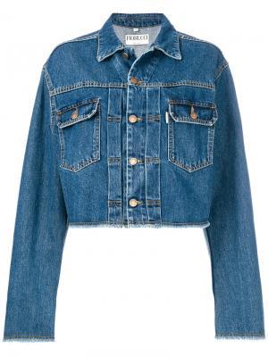 Классическая джинсовая куртка Fiorucci. Цвет: синий