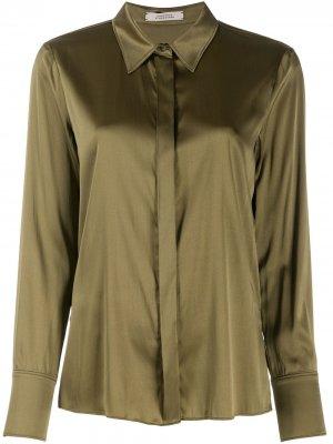 Легкая рубашка с классическим воротником Dorothee Schumacher. Цвет: зеленый