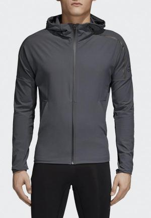 Куртка adidas. Цвет: серый