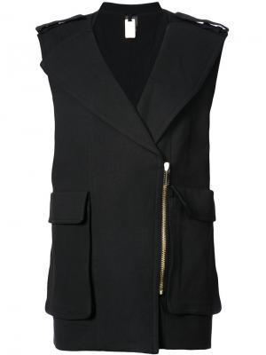 Пиджак без рукавов с крупными карманами Thomas Wylde. Цвет: черный