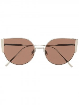 Солнцезащитные очки Fran 02 в массивной оправе Gentle Monster. Цвет: коричневый