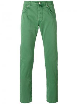 Зауженные джинсы Jacob Cohen. Цвет: зеленый