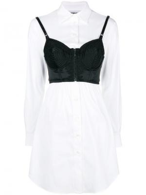 Рубашка с бюстье Moschino. Цвет: белый