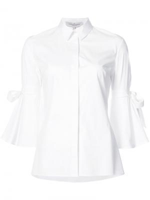 Рубашка с расклешенными рукавами Carolina Herrera. Цвет: белый