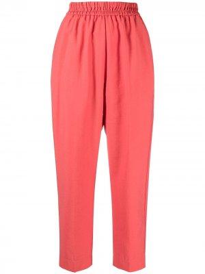 Зауженные брюки с завышенной талией Forte. Цвет: красный