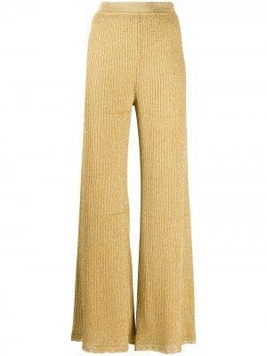 Расклешенные брюки в рубчик M Missoni. Цвет: золотистый