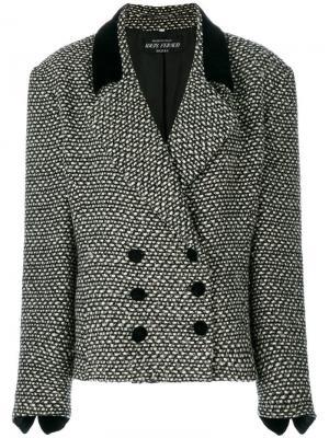 Свободный двубортный пиджак Louis Feraud Pre-Owned. Цвет: черный