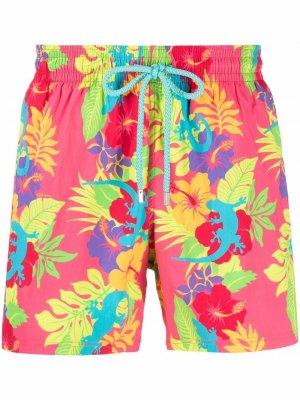 Плавки-шорты с принтом Tropical Vilebrequin. Цвет: розовый