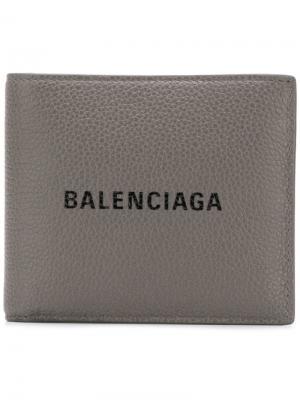 Everyday square wallet Balenciaga. Цвет: серый