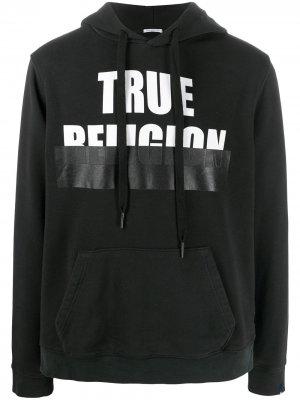 Худи с логотипом True Religion. Цвет: черный