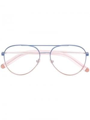 Contrast aviator glasses Retrosuperfuture. Цвет: синий