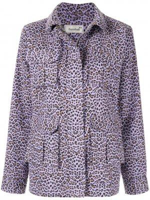 Куртка с леопардовым принтом Bambah. Цвет: фиолетовый