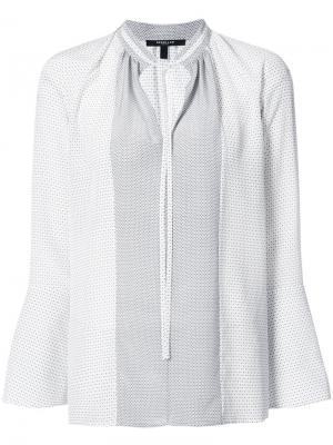 Блузка с мелким узором Derek Lam. Цвет: белый