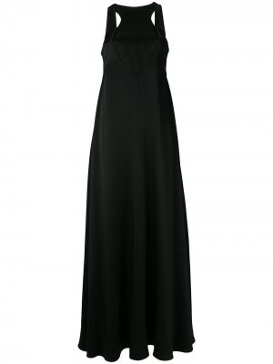 Вечернее платье с вырезами Valentino. Цвет: черный