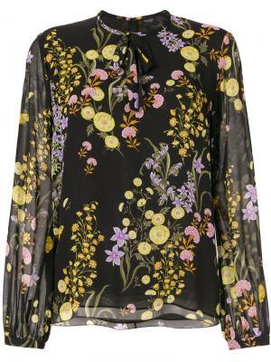 Блузка с цветочным принтом Giambattista Valli. Цвет: черный