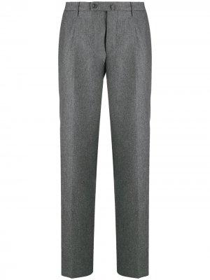 Зауженные брюки Incotex. Цвет: серый