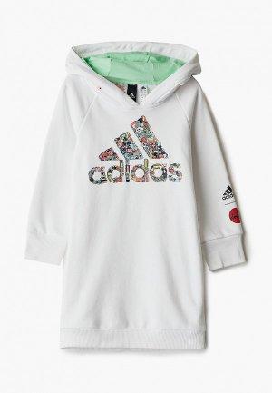 Худи adidas. Цвет: белый