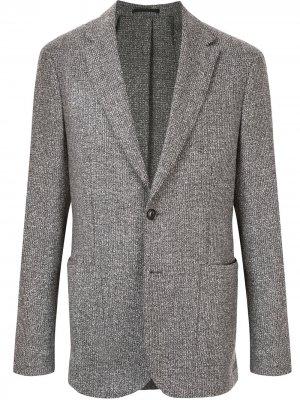 Однобортный пиджак Cerruti 1881. Цвет: разноцветный