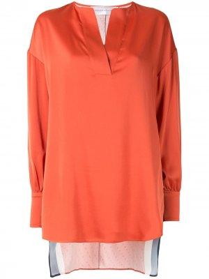 Блузка с контрастными вставками Victoria Beckham. Цвет: оранжевый
