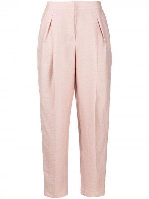 Зауженные брюки с завышенной талией Agnona. Цвет: розовый